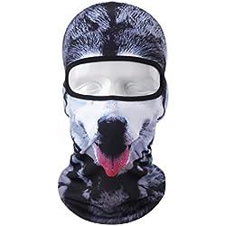 Vertast Cagoule Masque visage, 2017Nouveau Design 3d Animal Active Masque complet pour le ski de cyclisme casque de moto Liner randonnée Camping Cache-cou, Bon chien