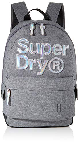 Superdry Damen Holo Infill Montana Rucksack, Grau (Grey Marl), 35x20x45 cm