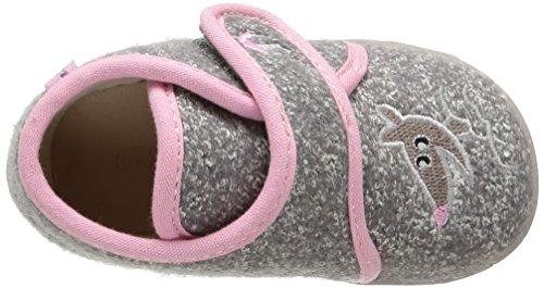 GBB Lakisha, Chaussures Premiers pas bébé fille Gris (Ttx Gris/Rose Dtx/Amis)