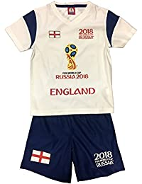 Fifa World Cup Official Licensed England 2018 Kids T-shirt & Shorts Set