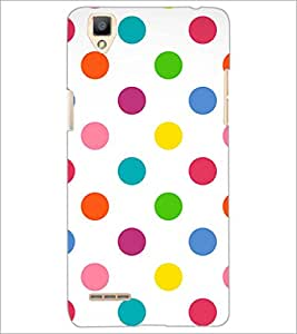 PrintDhaba Coloured Dots D-1233 Back Case Cover for OPPO F1 (Multi-Coloured)