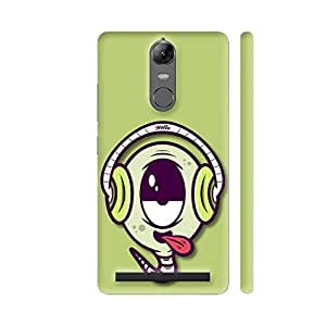 Colorpur Music Buff On Green Printed Back Case Cover for Lenovo K5 Note