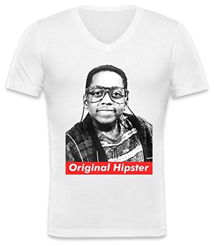 Orginal Hipster Steve Urkel Swag Hype Unisex V-neck T-shirt XX-Large