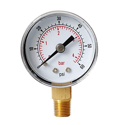 Manómetro de 40 mm, esfera de 1/8 pulgadas BSPT vertical, 15,30, 60.100, 160 200, 300 PSI y bar.