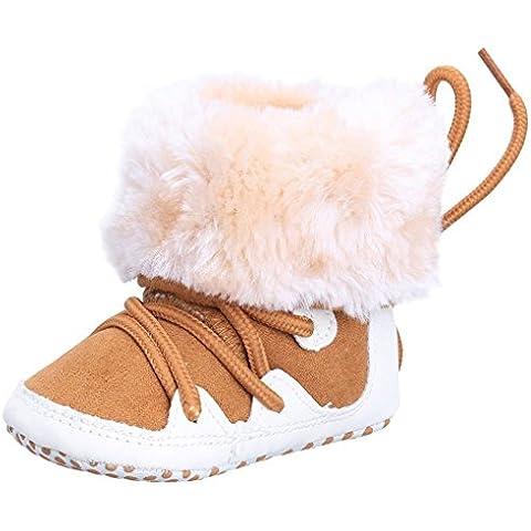 Vollter Botines del bebé de los zapatos calientes del niño recién nacido antideslizante piel de imitación de ante suave con suela de Prewalker