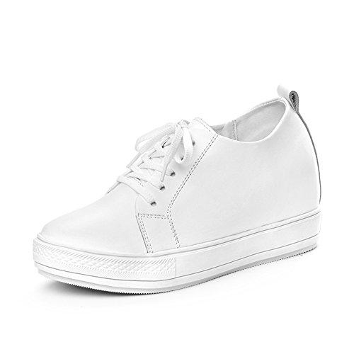 Chaussures femme/Thick-soled casual shoes/Chaussures de sport/Fond plat a augmenté dans les chaussures des femmes/Petit blanc chaussures femme A