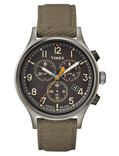 Timex Herren Analog Quarz Uhr mit Stoff Armband TW2R47200VQ - Isabella-stoff