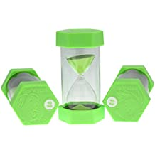 Large45 Minute Sand Timer Green with Individually Designed End Caps