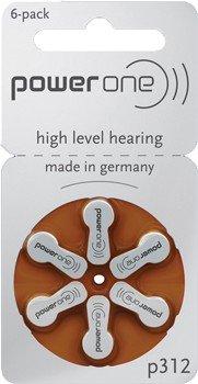 60 pièces PowerOne Piles pour appareils auditifs taille Typ 312 PR41 ZL3