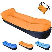 Tumbona inflable con bolsa de transporte; tumbona de playa; sofá inflable; cama flotante