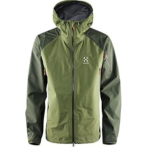 Haglöfs Roc Spirit Jacket Men–Chaqueta para lluvia, hombre, Roc Spirit, juniper green, large