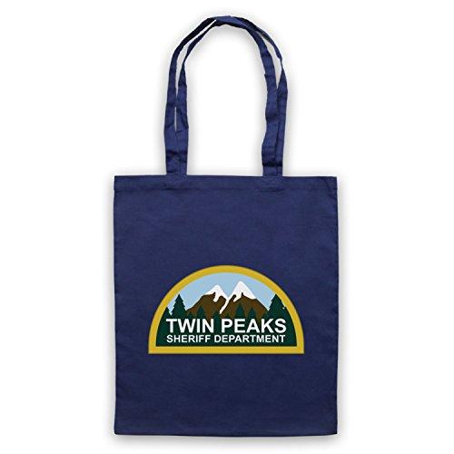 Inspiriert durch Twin Peaks Sheriff Department Inoffiziell Umhangetaschen Ultramarinblau