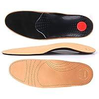 biped Soft Fußbett extra weich aus pflanzlich gegerbtem Leder - mit Pelotte - Mittelfußstütze - Fersenpolster und Aktivkohle z1719 (43)
