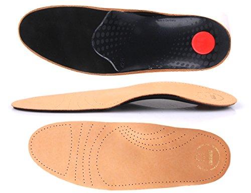 Soft Fußbett extra weich aus pflanzlich gegerbtem Leder - mit Pelotte - Mittelfußstütze - Fersenpolster und Aktivkohle z1719 Test