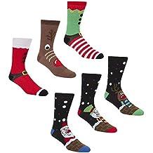 Calcetines navideños de la marca Zest, para hombre, hechos de algodón, ...