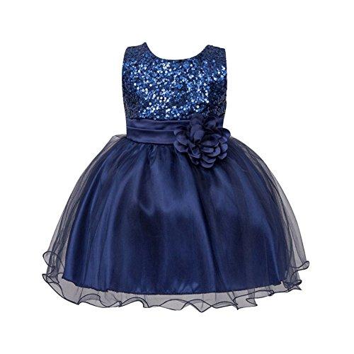 Brightup 0-24 Monate Baby Mädchen (Pailletten Blaue Kostüme Prinzessin)