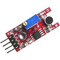 Magideal Módulo de Detección de Sensor de Micrófono Sonido Rojo de Alta Sensibilidad Para Arduino