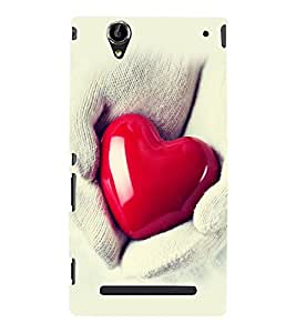 printtech Soft Heart Hands Back Case Cover for Sony Xperia T2 Ultra::Sony Xperia T2 Ultra Dual