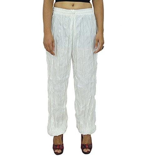 Pantalons pour femmes Yoga Harem Aladdin Pantalon Casual Alibaba Harem Blanc