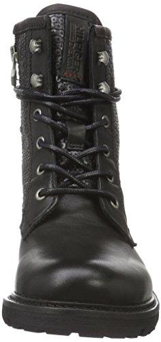 Hilfiger Denim Damen B1385edford 6c Kurzschaft Stiefel Schwarz (black 990)