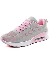 Zapatillas de Deportivos de Running para Mujer Gimnasia Ligero Sneakers Negro Azul Gris Blanco 35-44