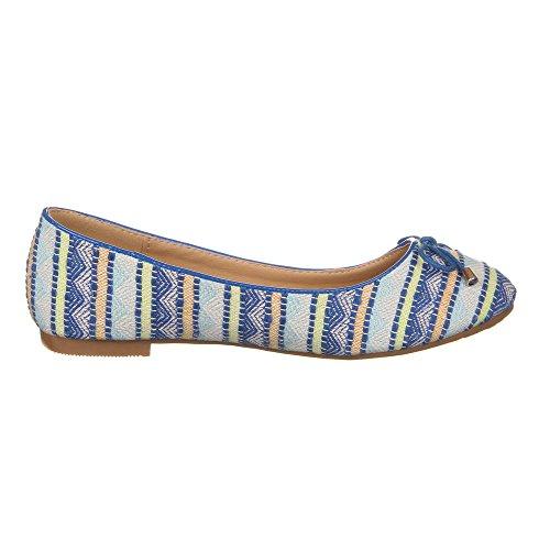 Scarpe Da Donna Ital-design, 8563-bl, Ballerine Blu