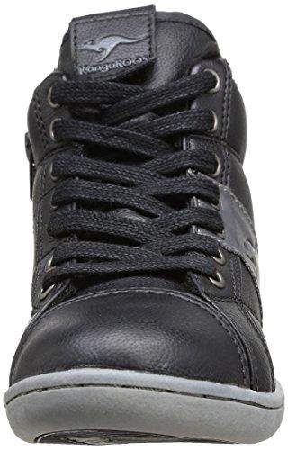 KangaROOS KangaCup 3017 Unisex-Kinder Sneakers Schwarz (black/dk grey 522)