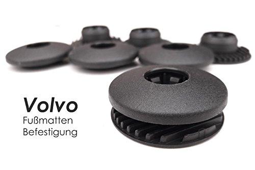 kh Teile Fußmatten Befestigung (4-teilig, schwarz ) / Automatten Halter Clips