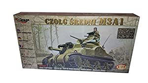 Mirage Hobby 72803, 1:72 Scale, Medium Tank M3A1, Plastic Model Kit by