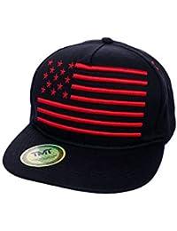 TMT Cappello Visiera Piatta Snapback Cappellino Rapper America USA Unisex Italian  Team 0a51379011a0