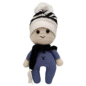 LOOP BABY – gehäkelte Puppe Paul – personalisierter Puppen-Junge mit Name