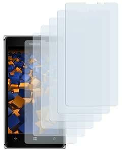 6x mumbi Schutzfolie Nokia Lumia 925 Folie Displayschutzfolie (bewusst kleiner als das Display, da dieses gewölbt ist)