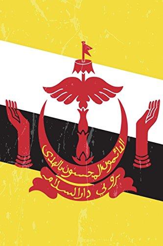 Brunei Flag Journal: Nation of Brunei, the Abode of Peace Travel Diary, Negara Brunei Darussalam Souvenir Book, lined Journal to write in