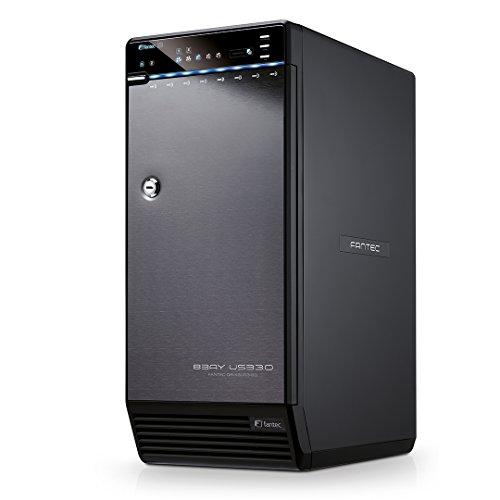festplatten array FANTEC QB-X8US3-6G Externes 8-fach Festplattengehäuse (für den Einbau von 8x 8,89 cm (3,5 Zoll) SATA I/II/III Festplatten, USB 3.0 SUPERSPEED und eSATA Anschluss, 6G Support, 2x 80 mm Lüfter temperaturgeregelt) schwarz