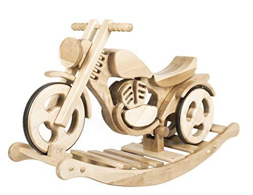 cama24com Schaukelmotorrad Classic 2 in 1 von Kandu Laufrad Holzmotorrad Schaukelspielzeug mit Palandi® Sticker