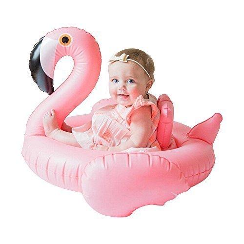 Mystery&Melody Giant Pizza Float Aufblasbares Schwimmbecken Float Raft Liege Floating Lounge Spielzeug für Erwachsene Kinder (Flamingo-Ring)