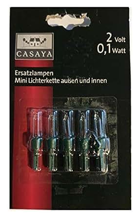 Ersatzlampen Weihnachtsbeleuchtung.5 Ersatzlampen 2 V 0 7 W Casaya Art Nr 955320 Für Mini