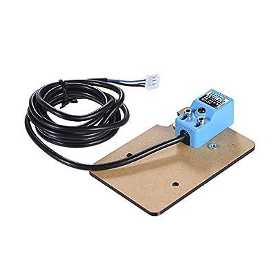 Aibecy Verbessert 3D Drucker Automatische Nivellierung Sensor Induktiv Näherungssensor, Erhitzt Position Einstellbar mit Montageplatte & Schrauben für RepRap Prusa DIY 3D Drucker Zubehör