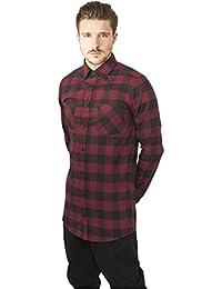 Urban Classics Long Checked Flanell Shirt, Camisa para Hombre