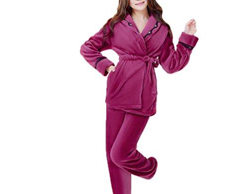 Pyjamas Herbst und Winter Saison Lovely Cartoon Frauen Trainingsanzug Verdickung Pyjamas Anzug Freizeit Nachtwäsche A