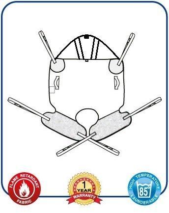 Mackworth easifit imbragatura universale con supporto per la testa e anello accessori (rete di poliestere, extra extra extra large)