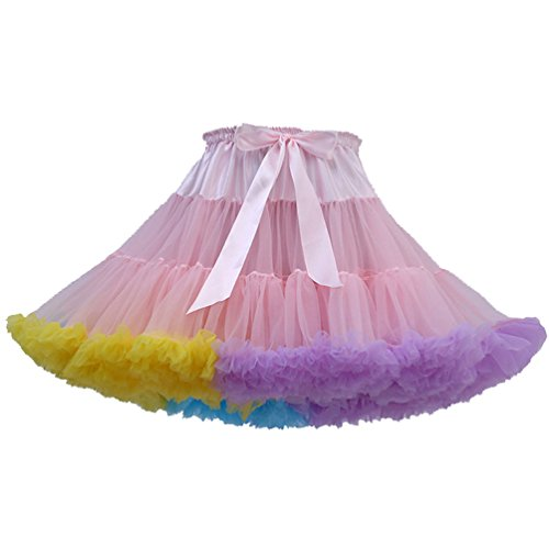 Tütü Damen Tüllrock Mädchen Tutu Rock Petticoat Unterrock -