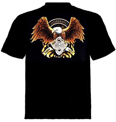 Biker T-Shirt Born to be Free Schwarz