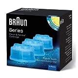 Braun - Pack de 3 Recharges de Liquide Nettoyant pour Système Clean & Renew - CCR3