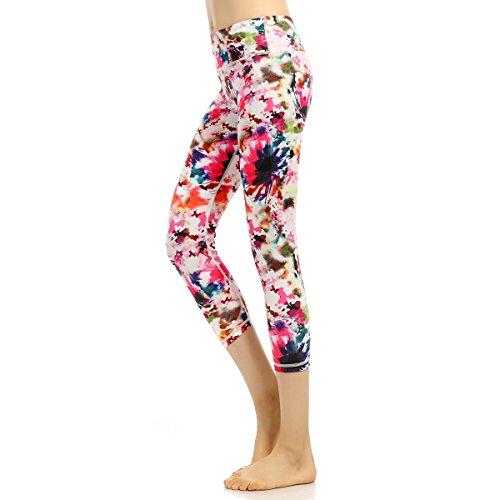 Legging Sport Femme Capris Pantalon Jogging Femme Minceur Amicissant Panty de Yoga Gym Pants Douce