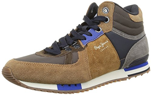 Pepe JeansTinker Mix High Top - Sneaker Uomo , Marrone (Marron (859Tobacco)), 42