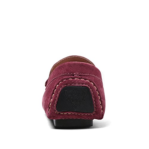 Miyoopark UK-XCR8028, Herren Mokkasins burgunderfarben