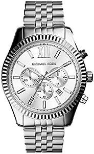 Michael Kors Lexington Watch For Men, Quartz Movement, Analog, Stainless Steel Band, Mk8405