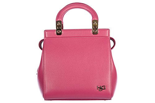Givenchy borsa donna a mano shopping in pelle nuova vintage mini top hdg fucsia