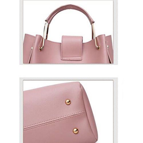 384a91d826fff ... Frauen Designer Handtaschen Tote Handtasche Umhängetasche Eimer Tasche  3er Pack Pink